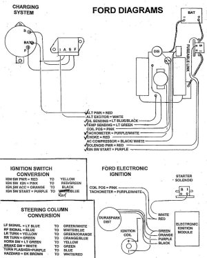 No spark on 66 mustang  wiring diagram included  Ford