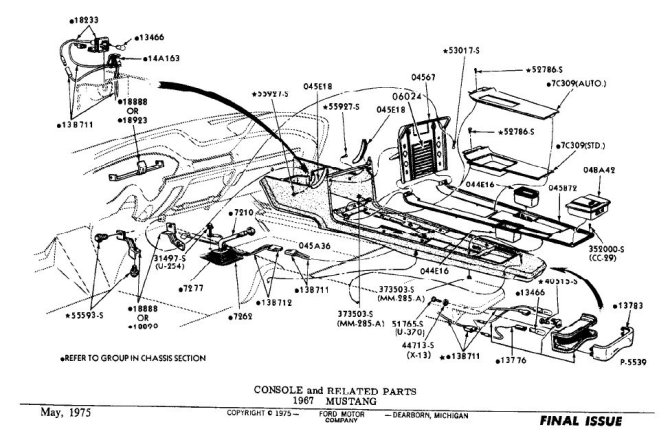 1967 mustang console wiring diagram  wiring diagram cycle
