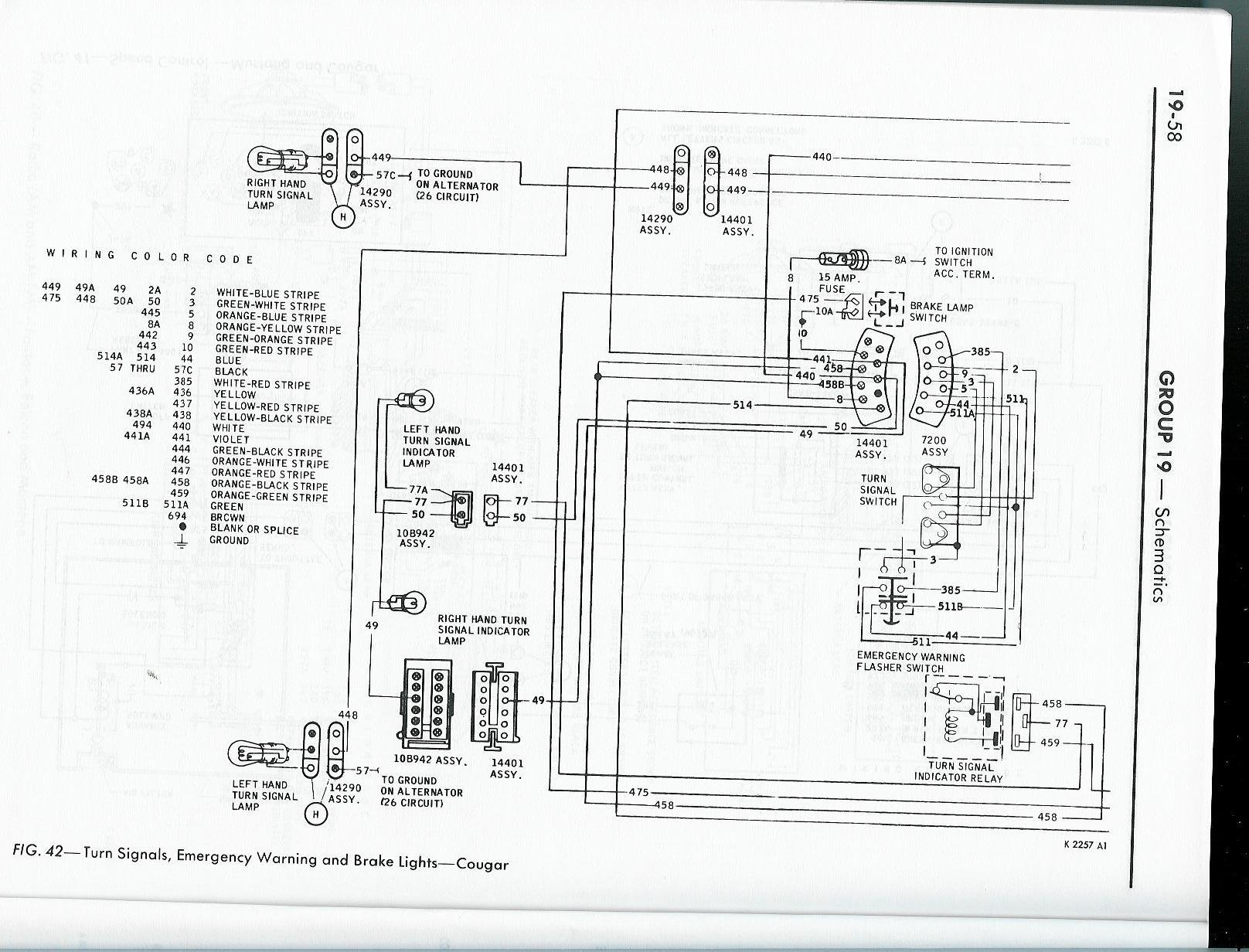 65 Mustang Turn Signal Wiring Diagram