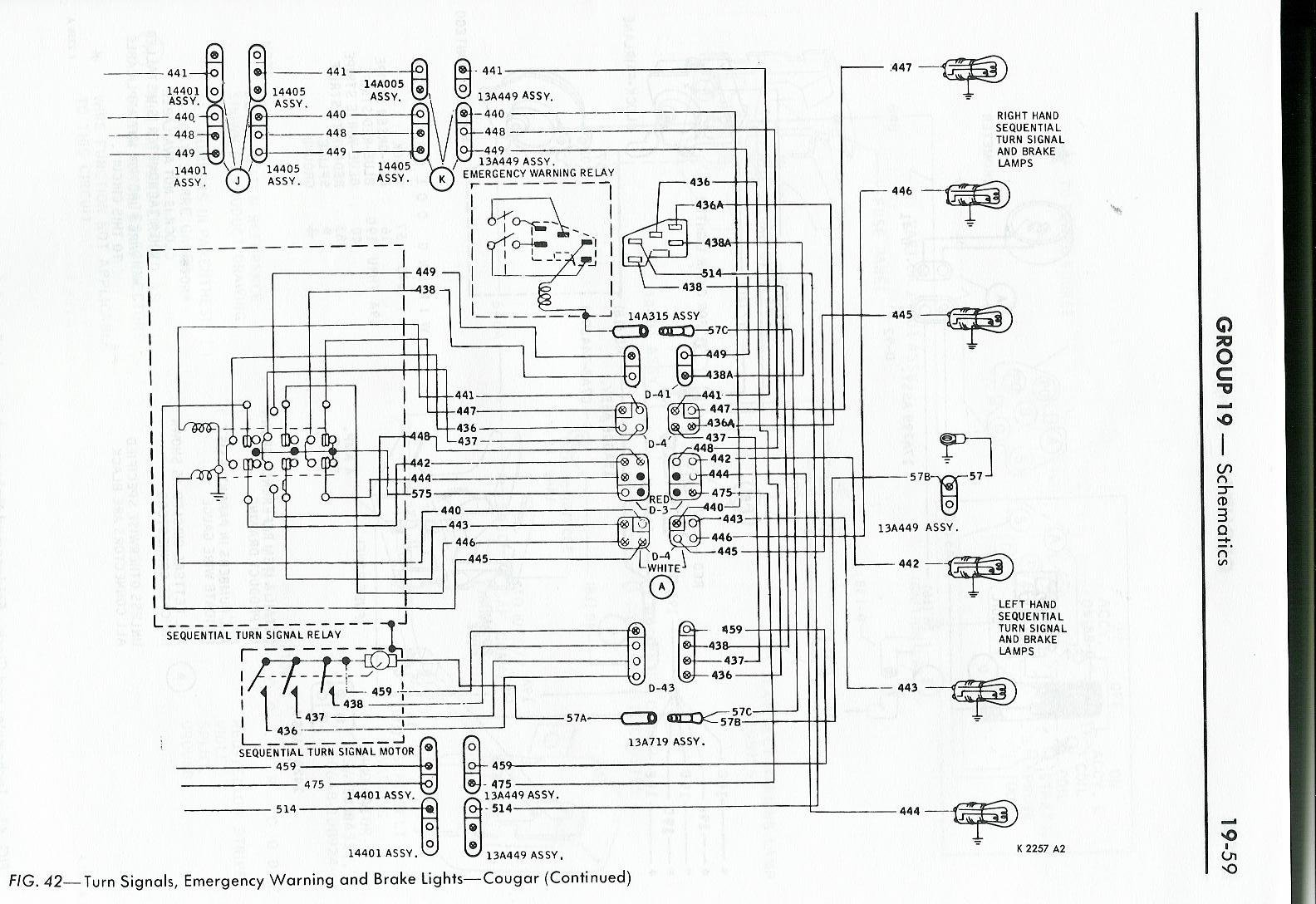 68 Mustang Turn Signal Switch Wiring Diagram
