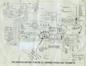 1968 Mustang wiring diagrams WITH TACH, please help  Ford