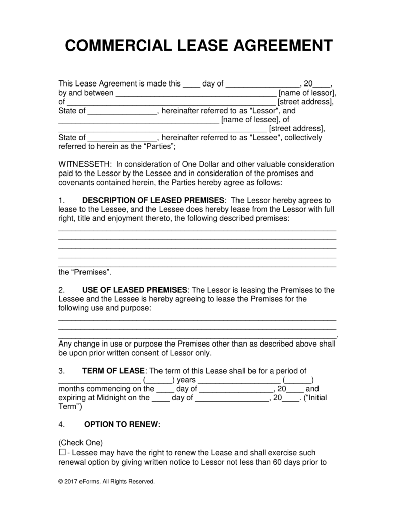 Rental and lease agreement template all form templates for Land rental contract template