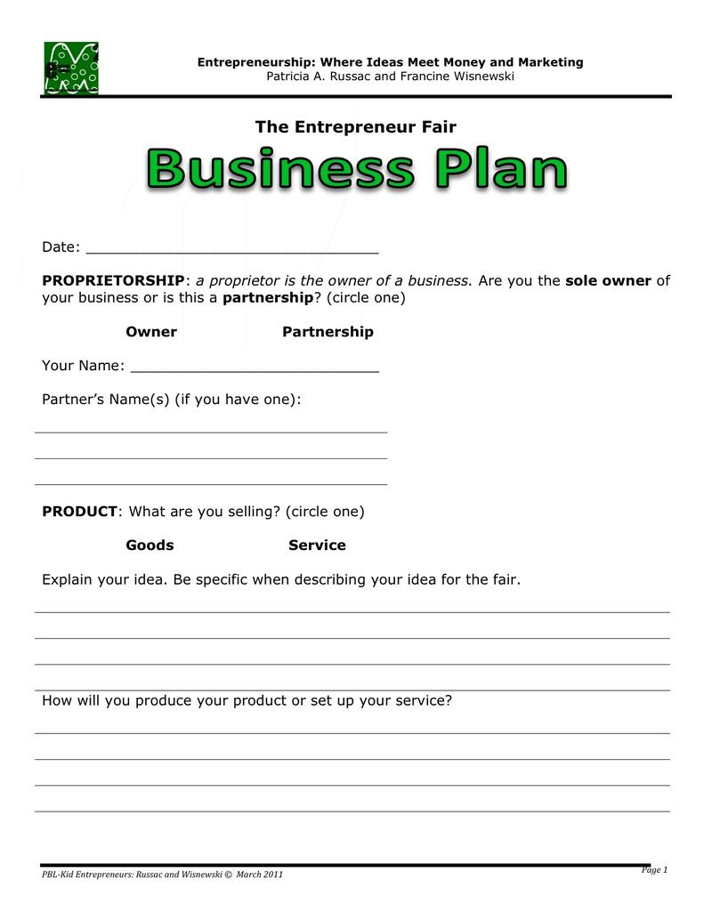 Free Business Plan Templates Samples Formats And Examples - How to create a business plan template