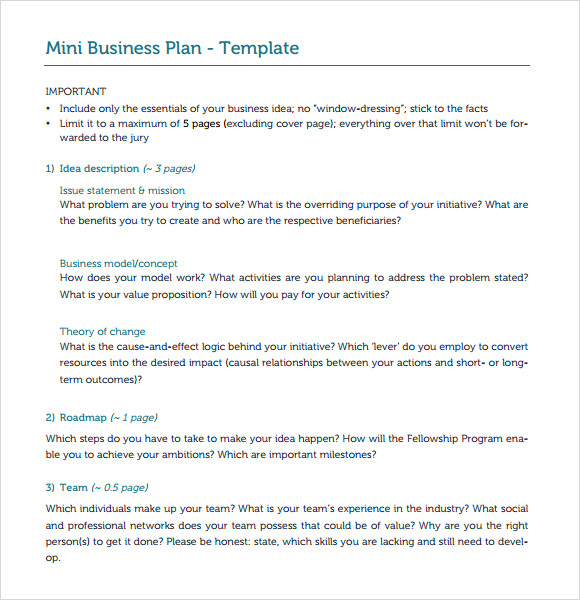 Best Design And Samples For Business Plan Templates Table Of