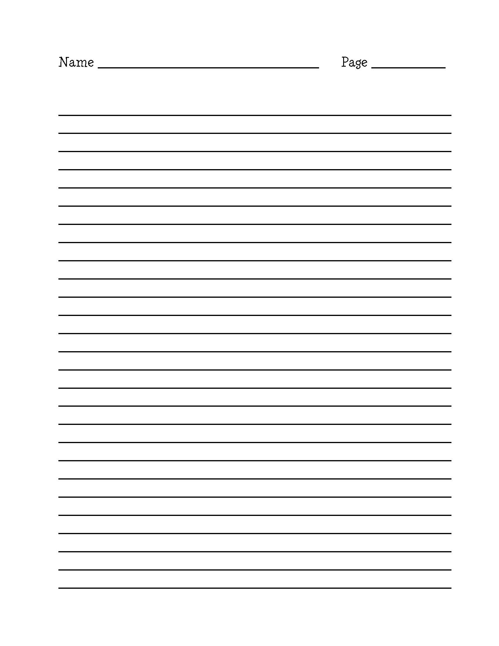 A4 Lined paper templates Print and download 15 templates Table of