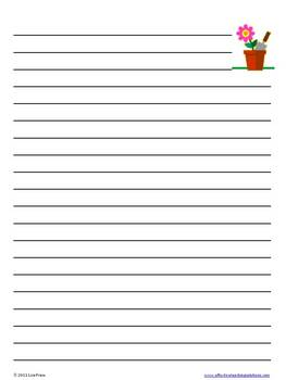Summer Lined Writing Paper: While Parents May Not Always Agree, Kids Love  The Summertime And There Are Plenty Of Fun Ideas To Write About.  Lined Paper Template Word