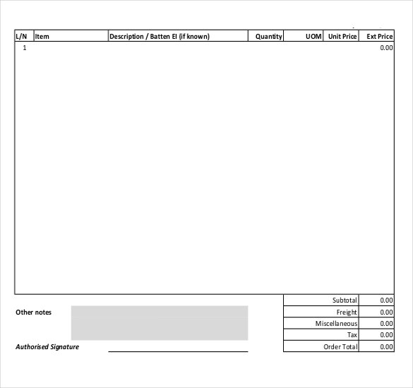 15+ Samples of Purchase order templates in Word, Excel