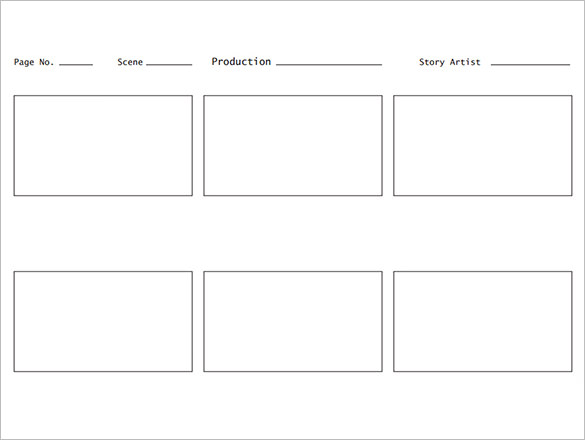 Free PDF Film Storyboard Template