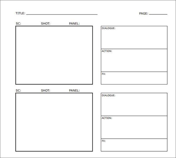 storyboard word template