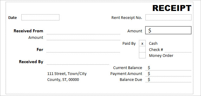 Free Receipt Printable Template for Excel word pdf Formats – Money Transfer Receipt Template