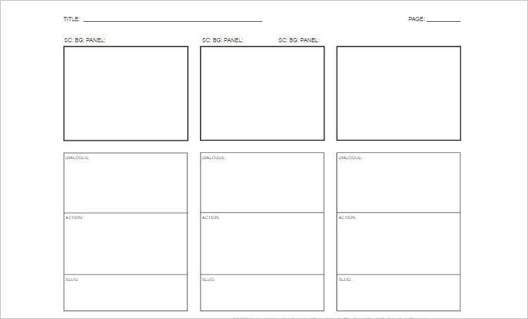 storyboard template in word