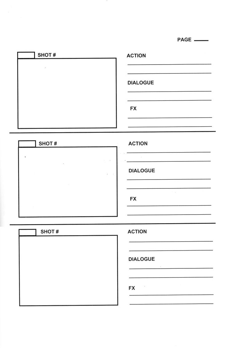Page Storyboard Template