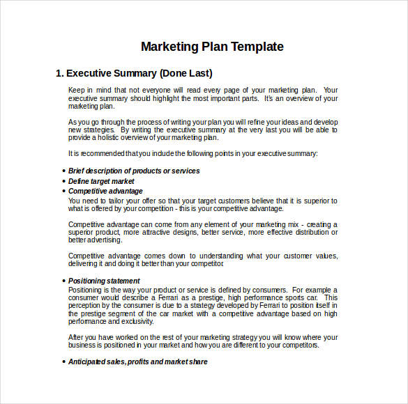 Marketing Plan Templates, 20+ formats, examples and complete guide ...
