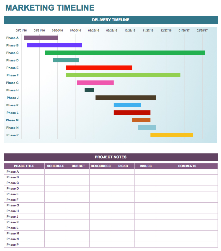online marketing campaign template - timeline templates 20 free excel word pdf psd format