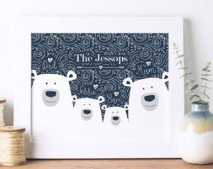 polar bear family tree template