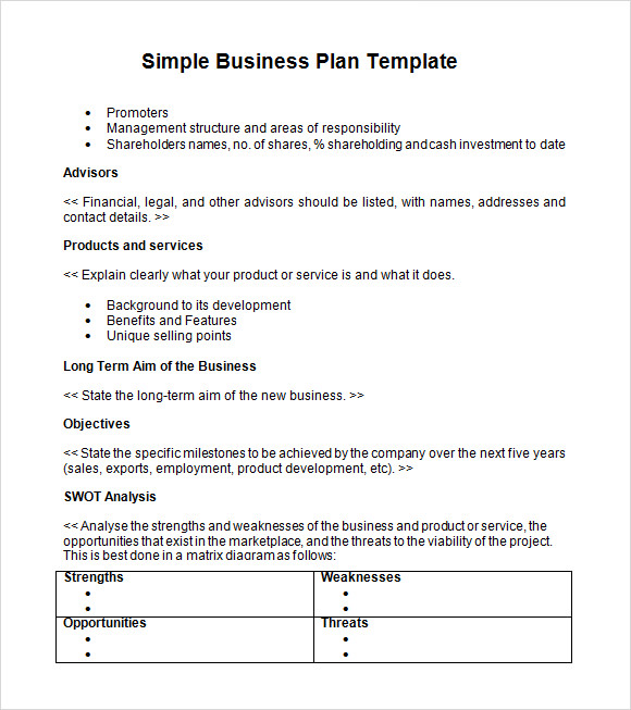 Printable Business Plan Summary Template  Printable Business Plan