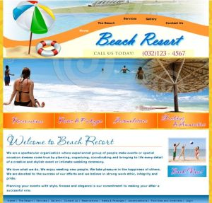 Beach And Resort template