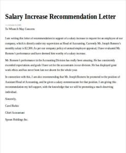 Increment & Promotion letter template