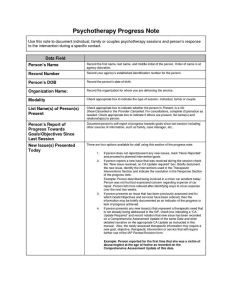 Psychotherapy progress note template