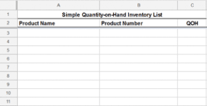 simple retail inventory template
