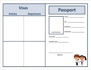 Passport Templates | Blank Abroad Passport Template | All Form Templates