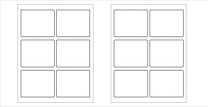 White and blank label template