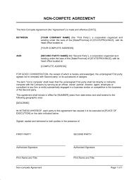 Insurance non-compete agreement template