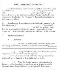 Vector Non Compete Agreement Template