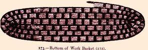 straw work basket bottom view