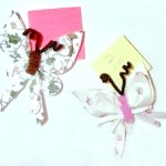 paper butterfly note holders