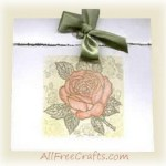 homemade rose motif greeting card