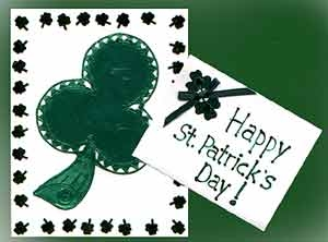 St Patrick's Day Homemade Greeting Card