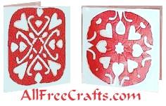 tissue paper valentine cards