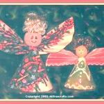 angels made from Christmas cards