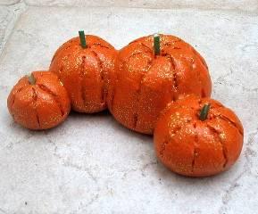 salt dough pumpkins