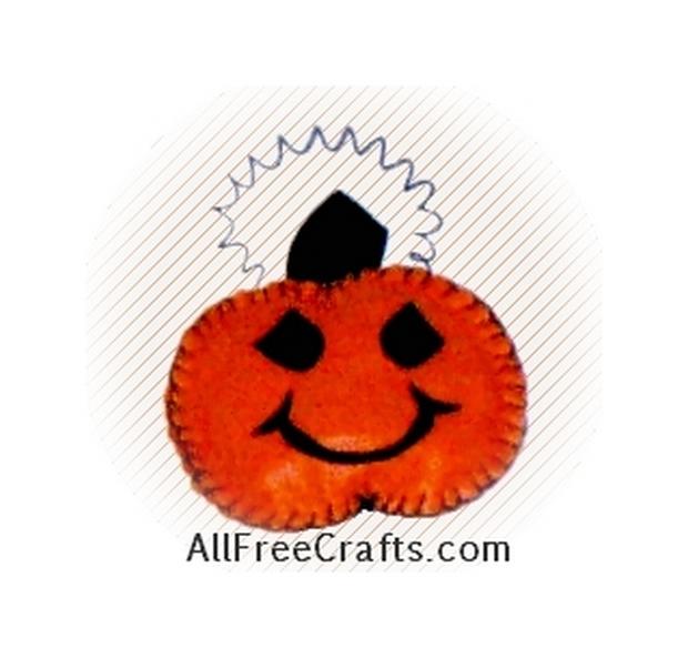 Felt Pumpkin Hanger