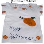 halloween stamped t-shirt