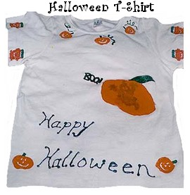 halloween stamped t-shirt