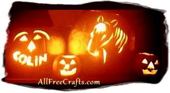 horse silhouette pumpkin