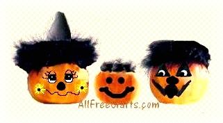 decorated mini pumpkins