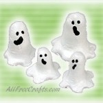 salt dough ghosts
