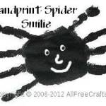 handprint spider smilie
