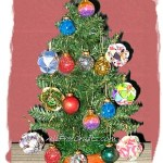 recycled card ornament tree