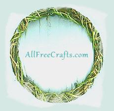 homemade vine wreath