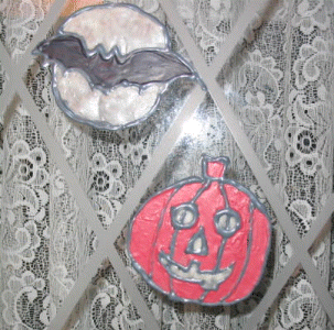 halloween window decals