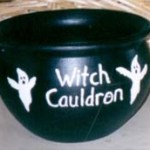 clay pot witch cauldron