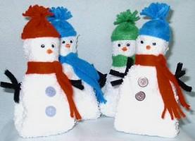 washcloth snowman