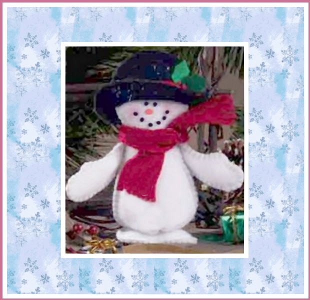 free felt snowman pattern