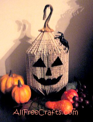 Paperback Book Pumpkin