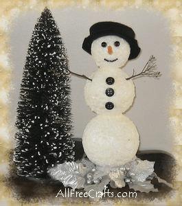 shimmering snowman